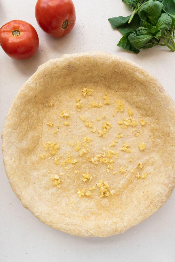 garlic paste in pie crust