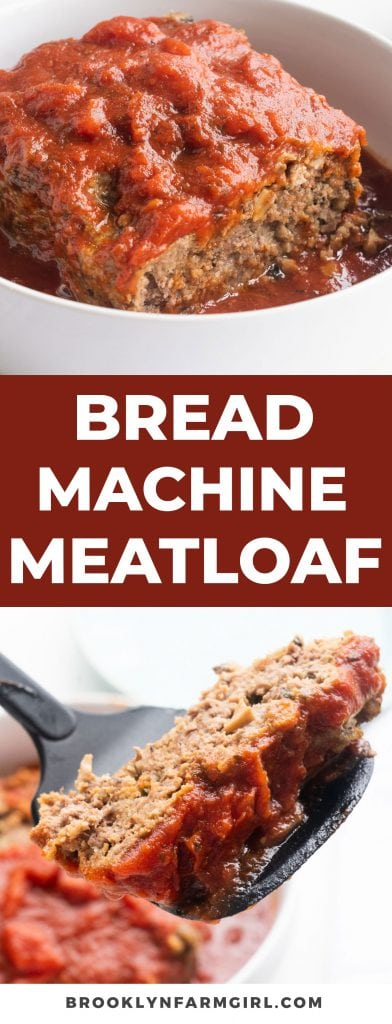 Making meatloaf in the oven is so yesterday. Bread Machine Meatloaf is an easy and family-friendly option for dinner! Clean out your fridge and load up this beefy dish with Italian flavors and a savory tomato sauce. #meatloaf #beefdinner #easymeatloaf #breadmachinerecipes #breadmaker