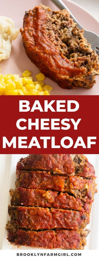 Easy to make Cheesy Meatloaf made with ground beef and breadcrumbs.   Shredded cheddar cheese is baked into this homemade meatloaf making it very fluffy and moist.