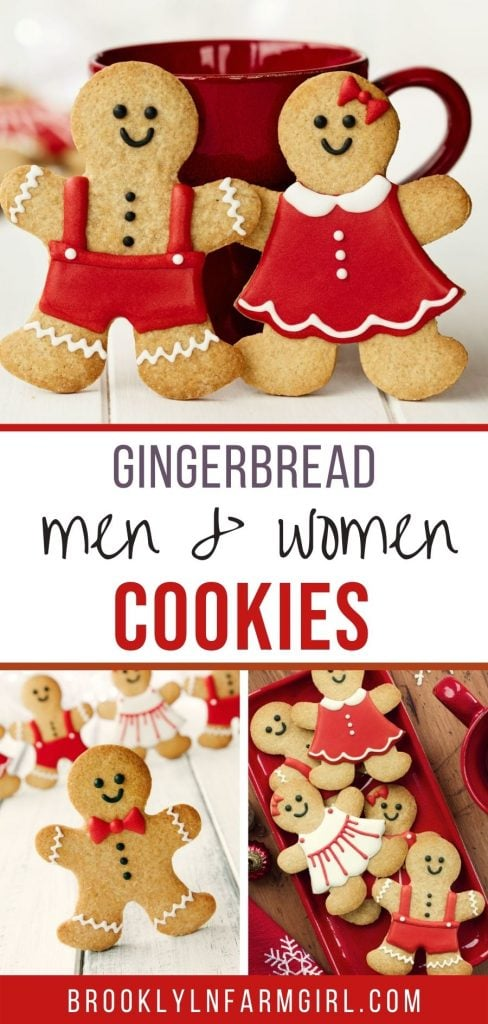 Easy to make Gingerbread Men (and women) cookies.    Bake up a batch of these soft and chewy Christmas cookies to decorate with your family. Includes icing decoration tips.