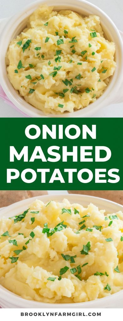 Creamy Mashed Potatoes recipe made with onion dip.  You'll love how rich and creamy these homemade potatoes are with onion buttery flavor!  Try these instead of your regular mashed potatoes!