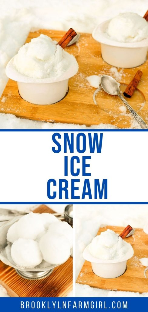 Is it snowing? Then make this classic Snow Ice Cream recipe that your family is going to love! You need fresh snow, milk, vanilla, sugar and salt.  It's so easy to make!