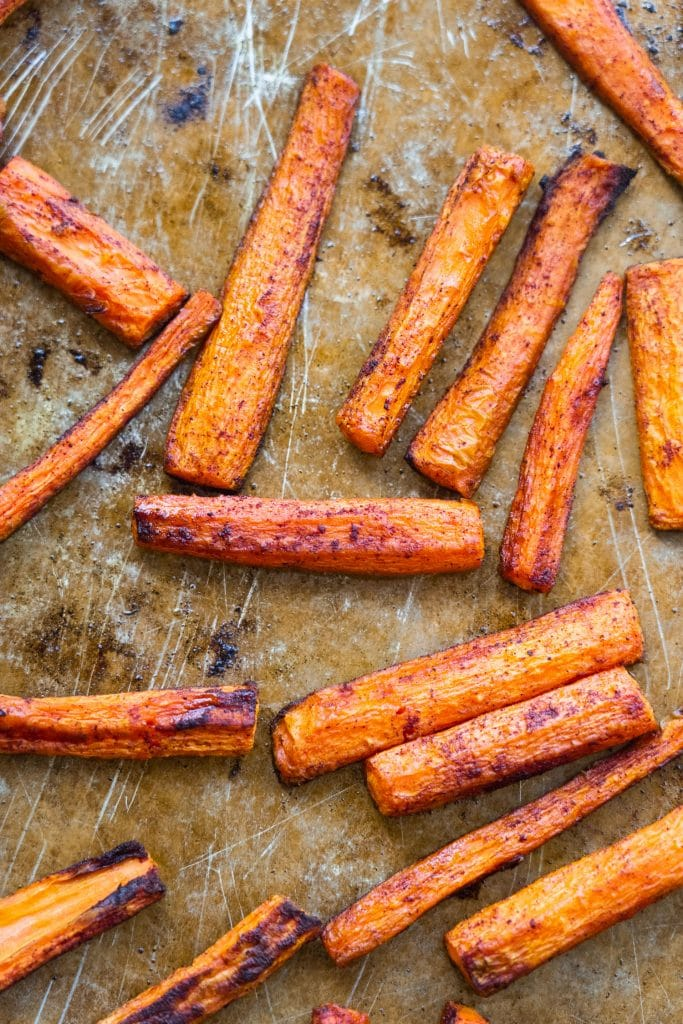 baked carrots with cinnamon.