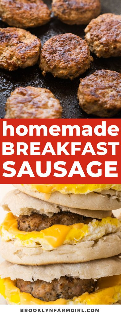 Easy step by step instructions on how to make homemade breakfast sausage using ground pork and ground turkey (more healthy!). Includes tips for no mess rolling out and cutting patty shapes.