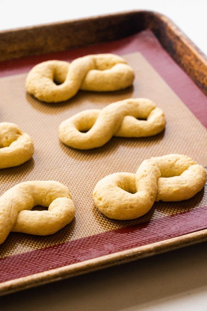 baked cookies on baking sheet.