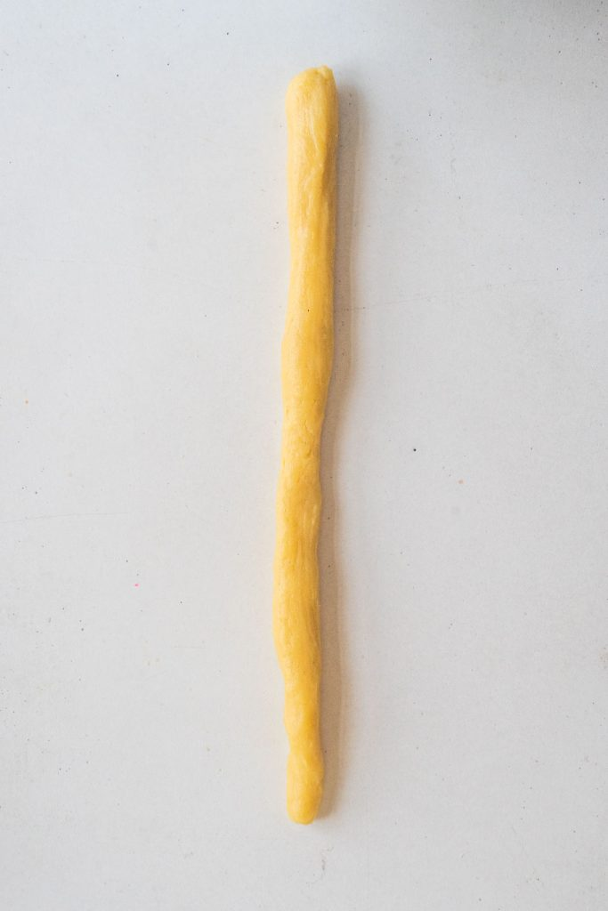 6 inch rope of cookie dough.