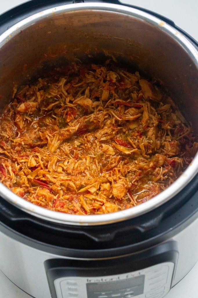 shredded chicken tacos all done in instant pot.
