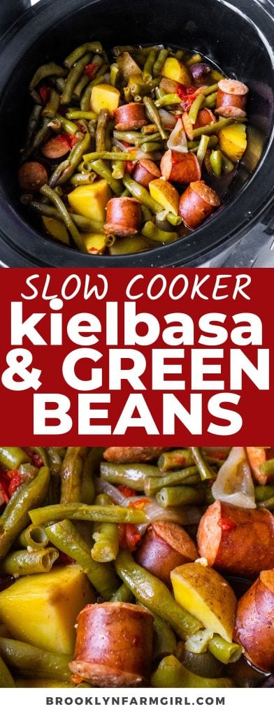 This Slow Cooker Kielbasa and Green Beans recipe is so easy! Simply throw the savory mix of Polish sausage, fresh green beans, potatoes, and chicken broth in a crockpot and let it do all the work. Enjoy this hearty meal with egg noodles or rice.