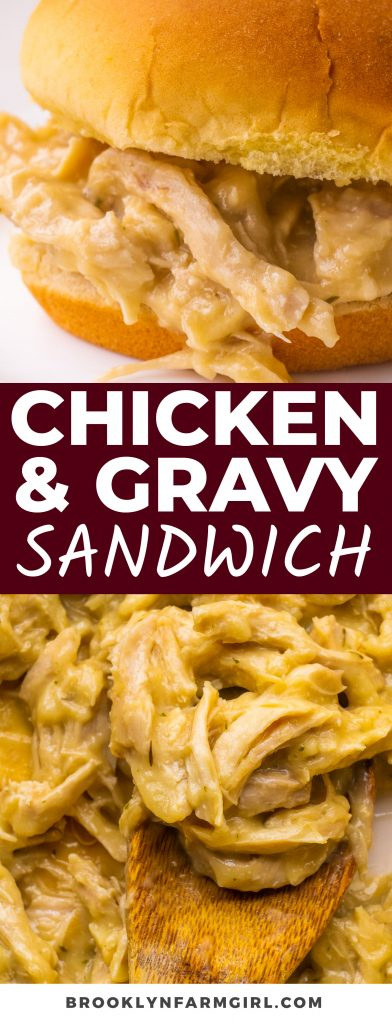 Creamy Chicken and Gravy Sandwiches are easy to make and taste delicious. Chicken is cooked in a homemade gravy, ready in 30 minutes.