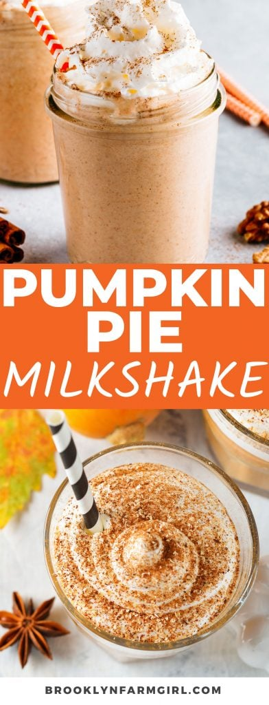 A Leftover Pumpkin Pie Milkshake is the best way to use up your Thanksgiving pumpkin pie! This easy 4-ingredient recipe blends actual pie slices into a creamy, tasty, and fall-themed dessert.